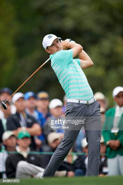 The Masters Jordan Spieth in action during Saturday play at Augusta National Augusta GA CREDIT Robert Beck