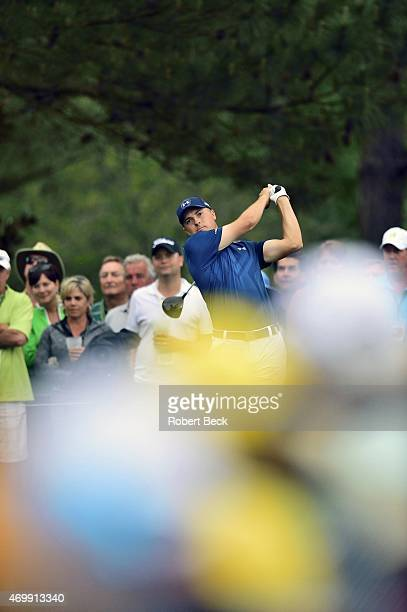 The Masters Jordan Spieth in action during Sunday play at Augusta National Augusta GA CREDIT Robert Beck