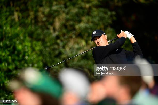The Masters Jordan Spieth in action during Sunday play at Augusta National Augusta GA CREDIT Kohjiro Kinno