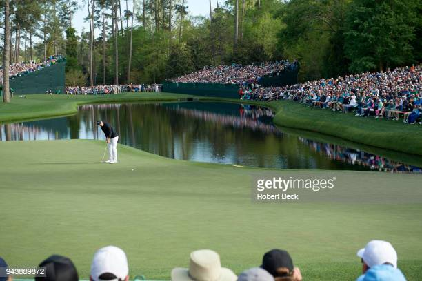 The Masters Jordan Spieth in action putting during Sunday play at Augusta National Augusta GA CREDIT Robert Beck