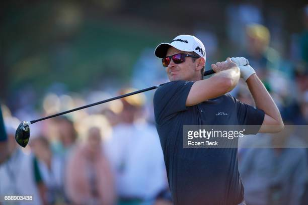 The Masters Justin Rose in action during Sunday play at Augusta National Augusta GA CREDIT Robert Beck