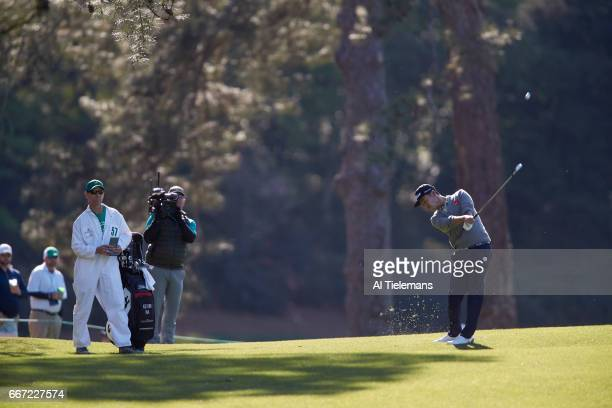 Kevin Na in action during Friday play at Augusta National. Augusta, GA 4/7/2017 CREDIT: Al Tielemans