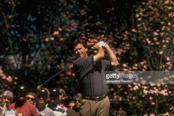 Golf The Masters Nick Faldo in action on Saturday at Augusta National Augusta GA 4/13/1996