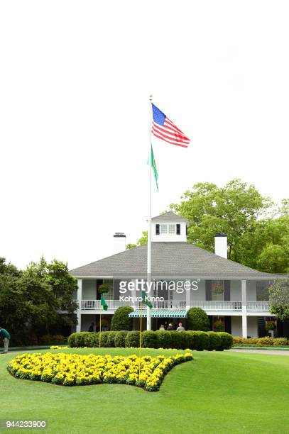 The Masters Scenic view of Augusta National clubhouse after Sunday play at Augusta National Augusta GA CREDIT Kohjiro Kinno