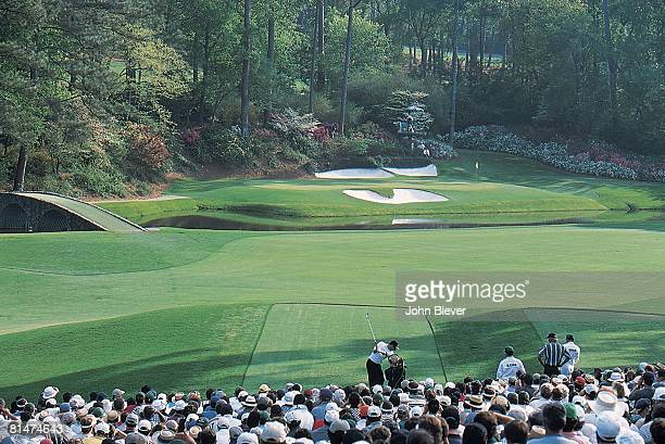 Golf The Masters Scenic view of miscellaneous action on 13th tee Amen Corner at Augusta National Augusta GA 4/11/1999