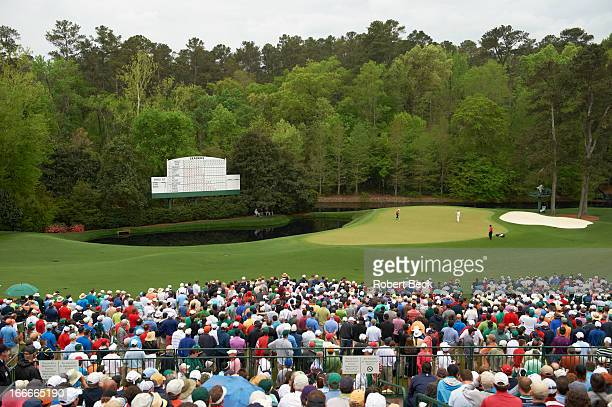 The Masters Scenic view of No 11 green and No 12 hole on Sunday at Augusta National Amen Corner Augusta GA CREDIT Robert Beck