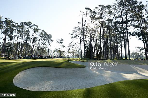 The Masters Scenic view of sand trap on course during Thursday play at Augusta National Augusta GA CREDIT Kohjiro Kinno