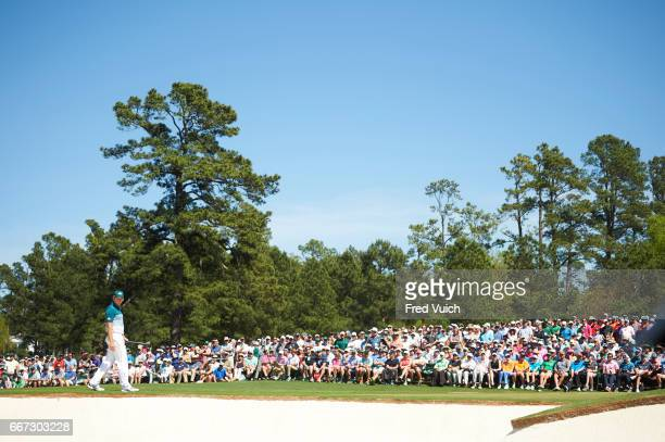 The Masters Sergio Garcia during Sunday play at Augusta National Augusta GA CREDIT Fred Vuich