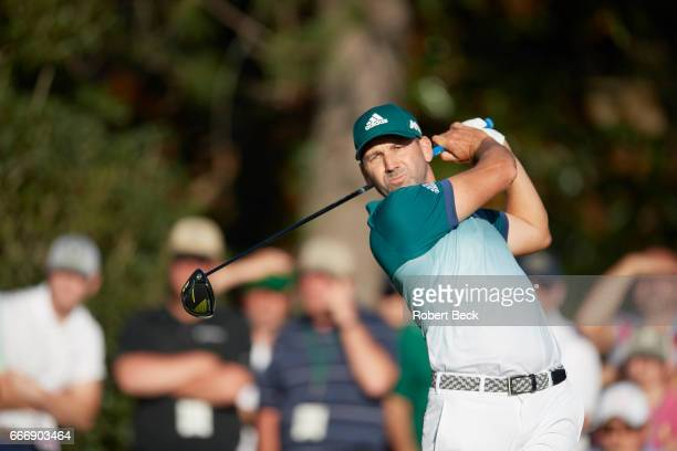 The Masters Sergio Garcia in action during Sunday play at Augusta National Augusta GA CREDIT Robert Beck