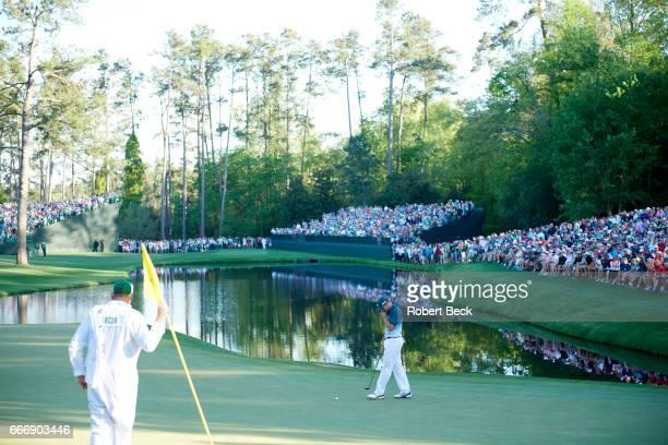 The Masters Sergio Garcia on No 16 green during Sunday play at Augusta National Augusta GA CREDIT Robert Beck