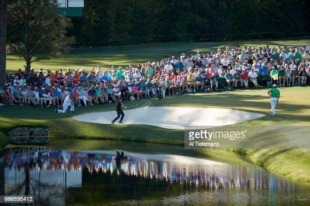 The Masters Thomas Pieters in action during Sunday play at Augusta National Augusta GA CREDIT Al Tielemans