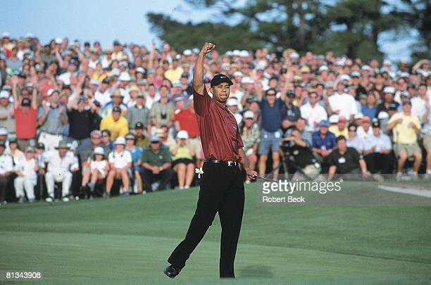 Golf The Masters Tiger Woods victorious on Sunday at Augusta National Augusta GA 4/8/2001