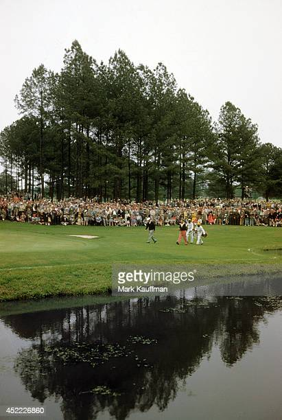 The Masters View of Ben Hogan walking on the 18th fairway during Sunday play at Augusta National Augusta GA CREDIT Mark Kauffman