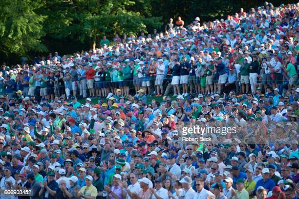 The Masters View of fans on No 16 hole during Sunday play at Augusta National Augusta GA CREDIT Robert Beck