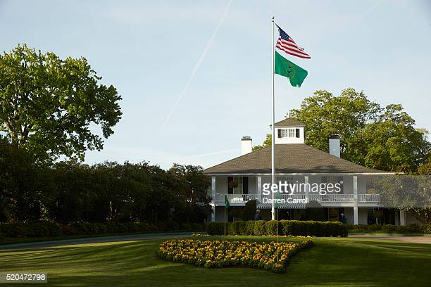 The Masters View of front of clubhouse during Sunday play at Augusta National Augusta GA CREDIT Darren Carroll