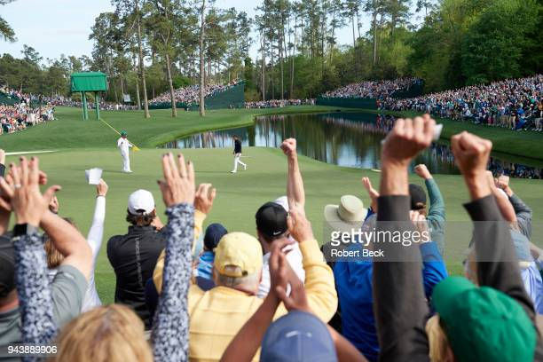 The Masters View of Jordan Spieth during Sunday play at Augusta National Augusta GA CREDIT Robert Beck