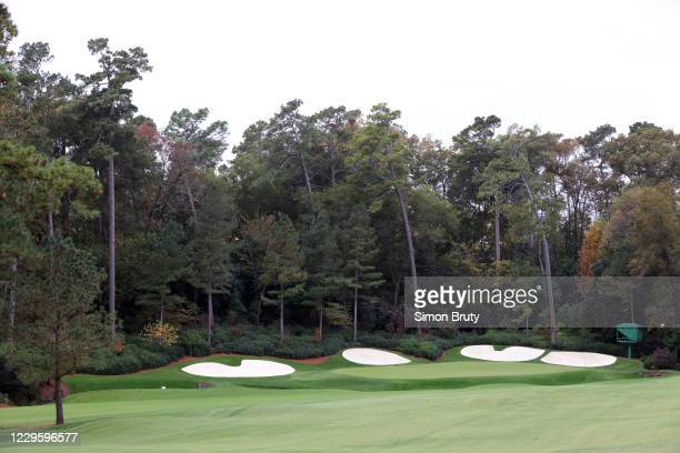 View of television camera during practice on Tuesday at Augusta National. Augusta, GA CREDIT: Simon Bruty