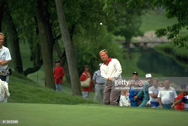 Golf The Memorial Jack Nicklaus in action drive on Saturday at Muirfield Village Dublin OH 5/18/1991