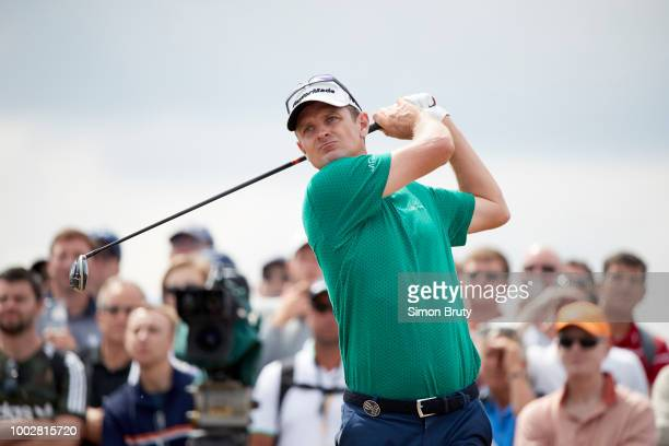 The Open Championship Justin Rose in action drive during Thursday play at Carnoustie Golf Links Carnoustie Scotland 7/19/2018 CREDIT Simon Bruty