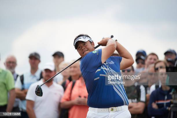 The Open Championship Kiradech Aphibarnrat in action drive during Thursday play at Carnoustie Golf Links Carnoustie Scotland 7/19/2018 CREDIT Simon...