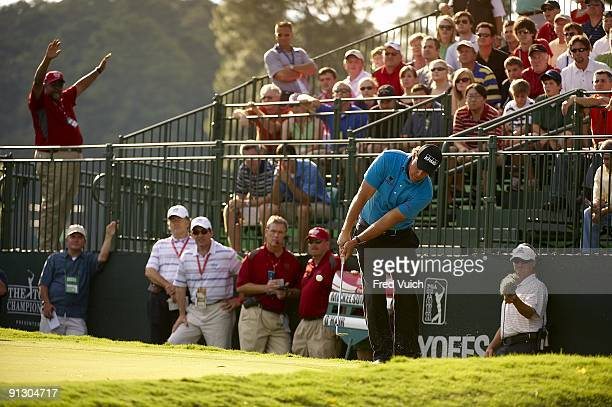Tour Championship Phil Mickelson in action pitch for birdie on No 16 during Sunday play at East Lake GC FedEx Cup Atlanta GA 9/27/2009 CREDIT Fred...