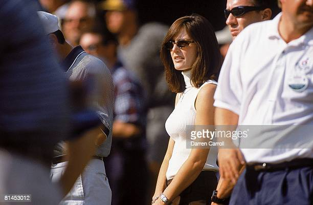 Golf Tour Championship Sonya Toms wife of David Toms during Friday play at Champions GC Houston TX 11/2/2001