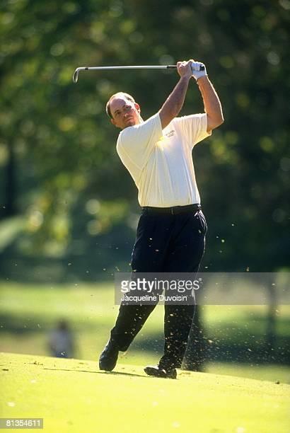 Golf Tour Championship Tom Lehman in action drive on Sunday Tulsa OK
