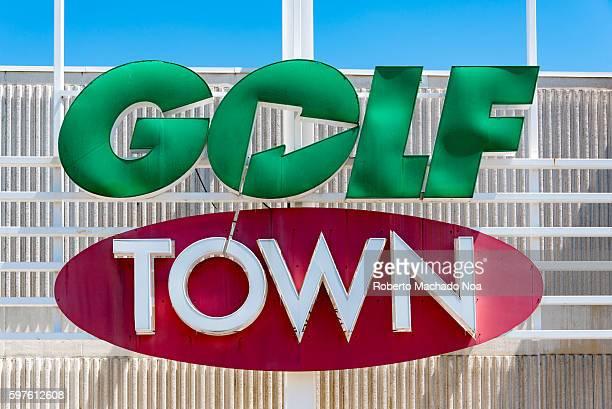 Golf Town signage on its store in Canada It has all items related to golf from clubs bags and balls to footwear apparel accessories and gifts at the...