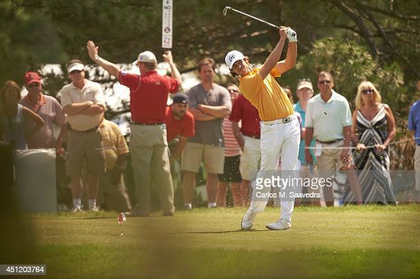 Travelers Championship Aaron Baddeley in action during Sunday play at TPC River Highlands Cromwell CT CREDIT Carlos M Saavedra