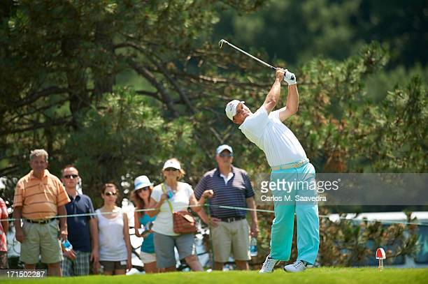 Travelers Championship Nicholas Thompson in action during Sunday play at TPC River Highlands Cromwell CT CREDIT Carlos M Saavedra