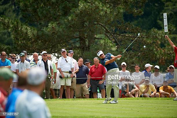 Travelers Championship Robert Allenby in action drive during Friday play at TPC River Highlands Cromwell CT CREDIT Carlos M Saavedra