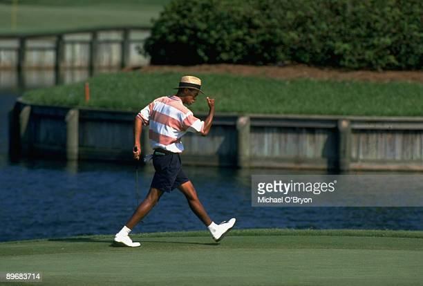 US Amateur Championship Tiger Woods victorious after birdie on No 17 at TPC Sawgrass Ponte Vedra Beach FL 8/27/1994 CREDIT Michael O'Bryon