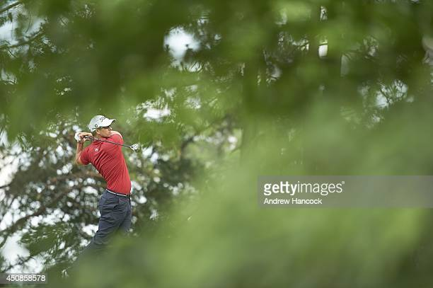 US Open Adam Scott in action during Saturday play at Course No 2 of Pinehurst Resort Pinehurst NC CREDIT Andrew Hancock