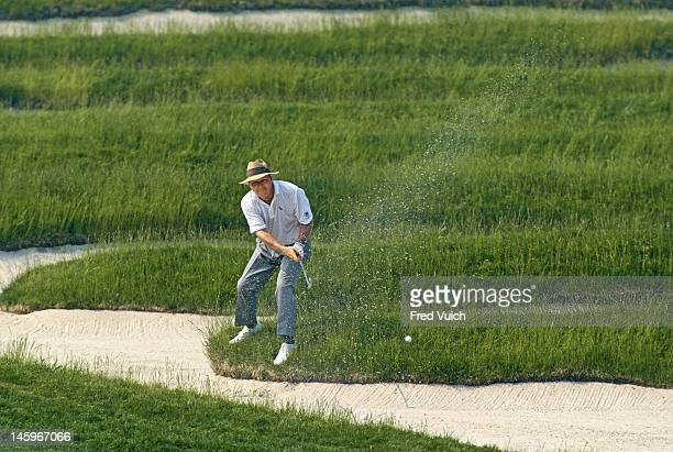 US Open Arnold Palmer in action chipping from sand trap during Friday play at Oakmont CC Oakmont PA CREDIT Fred Vuich