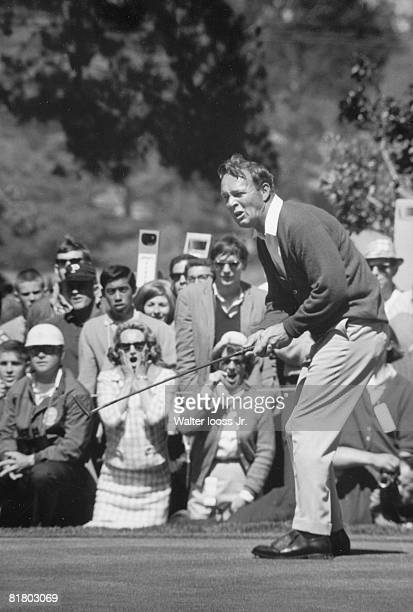 Golf: US Open, Arnold Palmer in action on Sunday during playoff vs Billy Casper at The Olympic Club, View of fans, Sequence, San Francisco, CA...