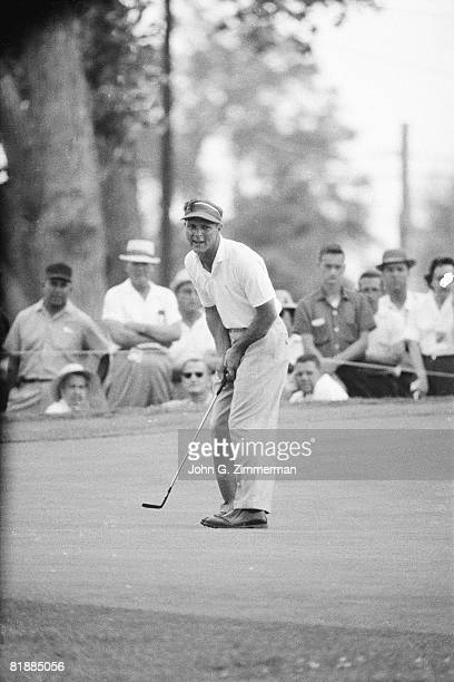 Golf US Open Arnold Palmer in action putt during tournament at Cherry Hills CC Denver CO 6/16/19606/19/1960