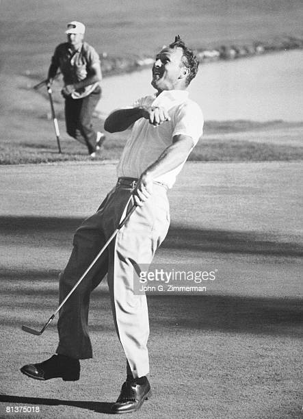 Golf US Open Arnold Palmer victorious at Cherry Hills CC Denver CO 6/16/1960