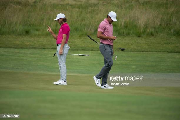 Brooks Koepka and Tommy Fleetwood in action during Saturday play at Erin Hills GC. Hartford, WI 6/17/2017 CREDIT: Donald Miralle