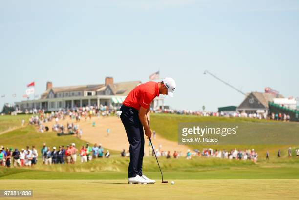 US Open Daniel Berger in action putt during Sunday play at Shinnecock Hills Southampton NY CREDIT Erick W Rasco