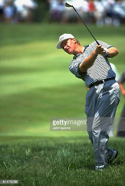 Golf US Open Ernie Els in action from rough during three way playoff on Monday at Oakmont CC Oakmont PA 6/20/1994