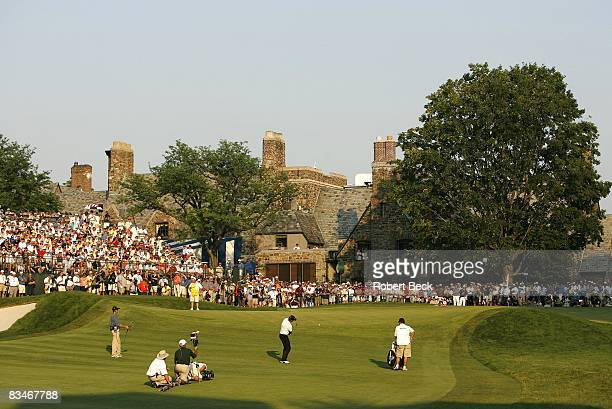 Open. Geoff Ogilvy in action, chip on No 18 during Sunday play at Winged Foot GC. Scenic view of clubhouse. Mamaroneck, NY 6/18/2006 CREDIT: Robert...