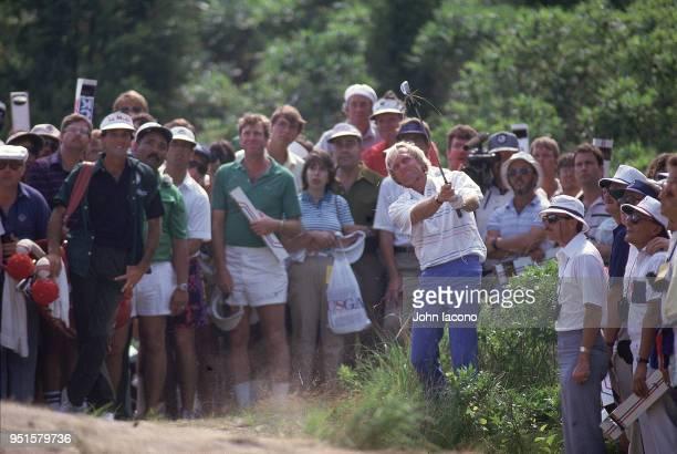 US Open Greg Norman in action during Sunday play at Shinnecock Hills Golf Club Southampton NY CREDIT John Iacono