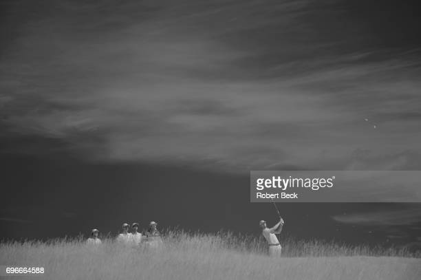 Infrared view of Thomas Pieters in action, during Thursday play at Erin Hills GC. Hartford, WI 6/15/2017 CREDIT: Robert Beck