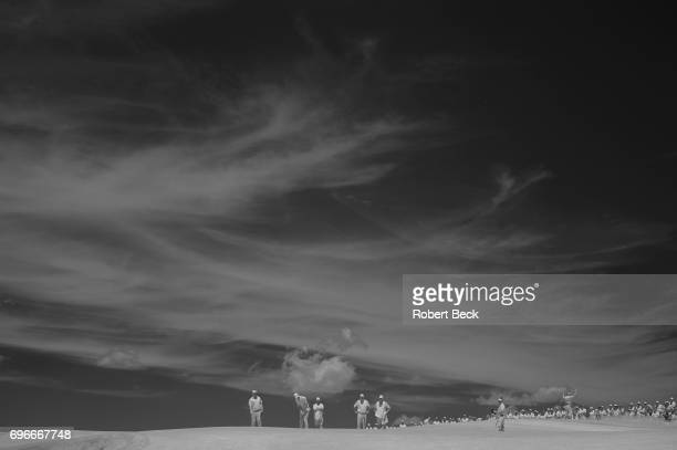 Infrared view of Tommy Fleetwood, Bud Cauley and Brian Harman during Thursday play at Erin Hills GC. Hartford, WI 6/15/2017 CREDIT: Robert Beck