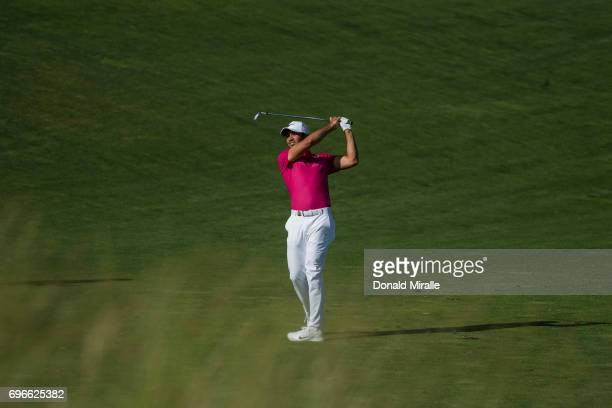 Jason Day in action during Thursday play at Erin Hills GC. Hartford, WI 6/15/2017 CREDIT: Donald Miralle