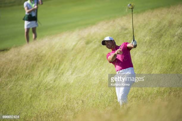 Jason Day in action during Thursday play at Erin Hills GC. Hartford, WI 6/15/2017 CREDIT: Kohjiro Kinno