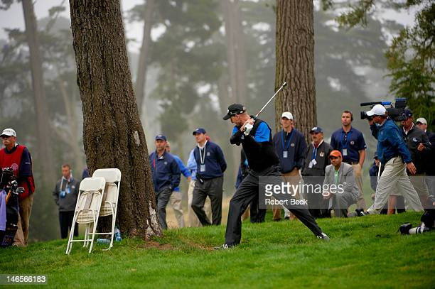 US Open Jim Furyk upset during Sunday play at Lake Course of The Olympic Club San Francisco CA CREDIT Robert Beck