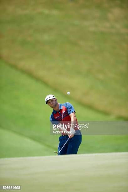 Jon Rahm in action during Thursday play at Erin Hills GC. Hartford, WI 6/15/2017 CREDIT: Robert Beck