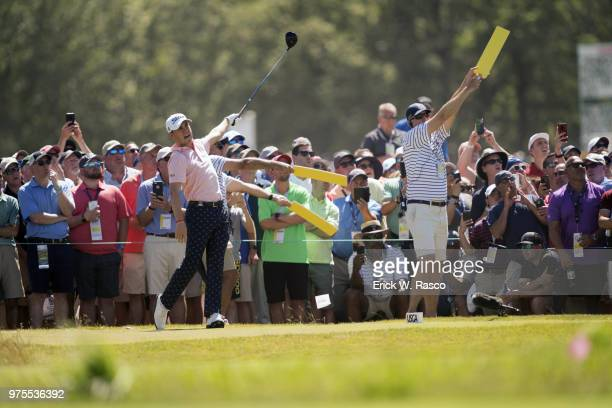 US Open Justin Thomas in action during Thursday play at Shinnecock Hills GC Southampton NY CREDIT Erick W Rasco