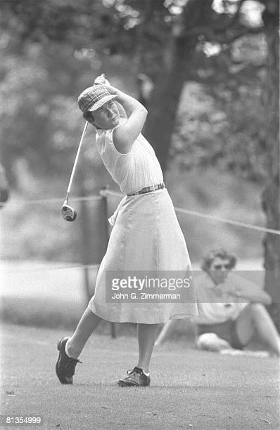 Golf US Open Louise Suggs in action at Winged Foot GC Mamaroneck NY 6/1/1957
